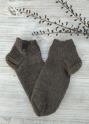 Вязаные шерстяные носки, ручная работа