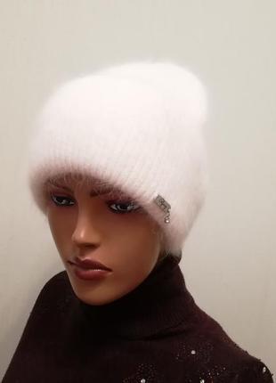 Классная стильная шапка ангора 56-58
