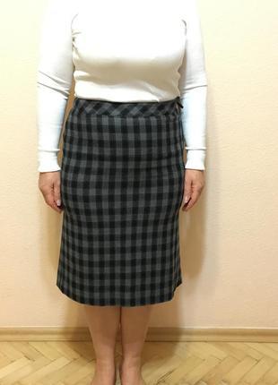 Marella италия оригинал шерстяная теплая юбка размер it 42