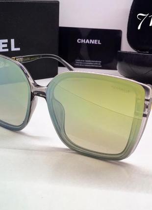 Chanel очки женские солнцезащитные зеркальные линзы