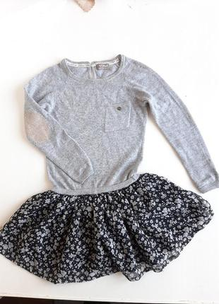 Платье для девочки 4-6 лет next с ангоры тёплое с длинным рукавом