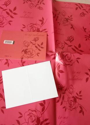 Упаковочная бумага, розы, день святого валентина