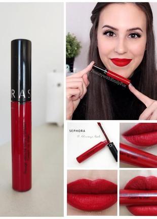 Идеальная красная помада для губ sephora cream lip stain 01 always red, 5 мл