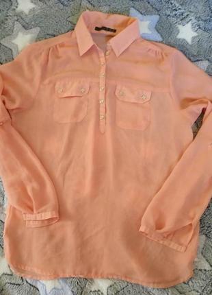 Полупрозрачная шифоновая прозрачная блузка, трансформер