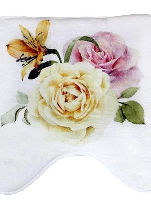 Коврик в ванную комнату bathlux rosa антискользящий хлопковый 45х45 см