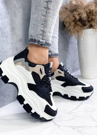 Массивные кроссовки на платформе