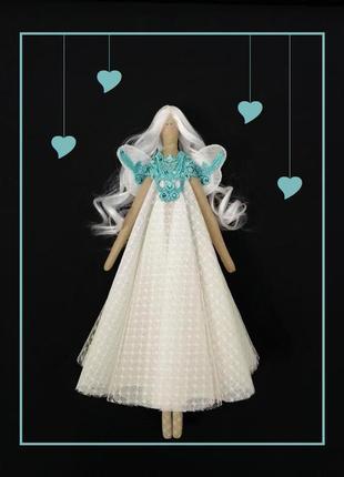 Интерьерная кукла тильда ангел