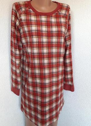 Платье-туника для дома тонкий флис