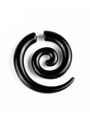Крутая серьга в стиле рок серьги сережки 1шт спираль завитушки