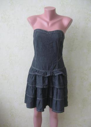 Платье-бюстье джинсовое