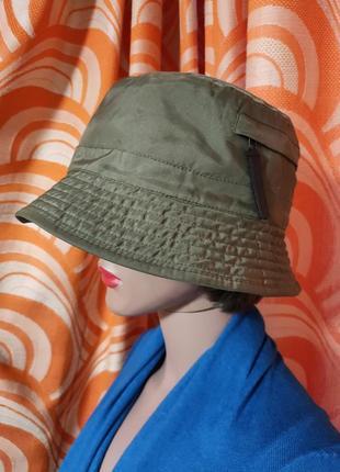 Теплая на флисе панама шляпа цвет хаки esprit