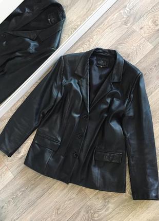 Пиджак из натуральной кожи размер м-л