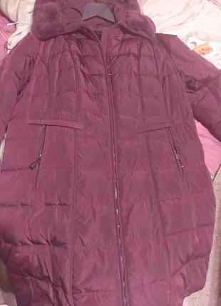 Пуховик, пальто, курточка большой размер, натуральный пух