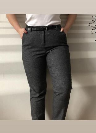 Классические брюки в клетку зимние