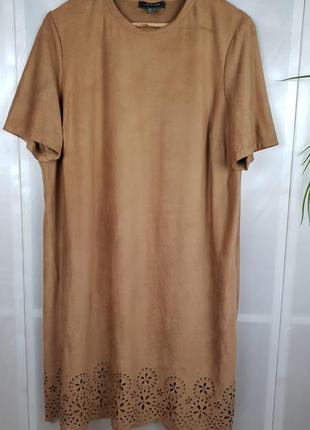 Платье миди большого размера из эко замша primark p.18/20