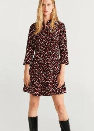 Платье-рубашка манго