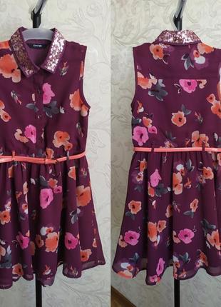 Неймовірно гарна дитяча сукня , поясок, паєтки