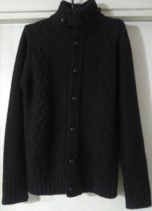 Кардиган кофта свитер полувер джемпер шерсть