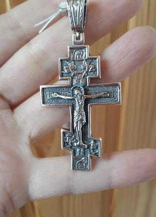 Масивний срібний хрест православний 3401