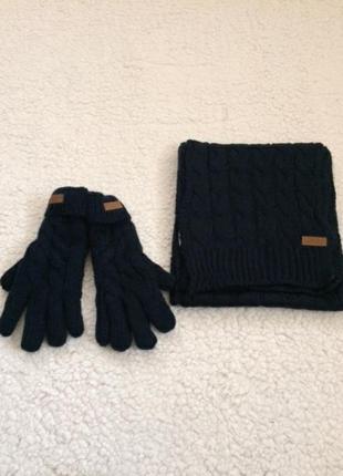 Набір шарф і перчатки чоловічий