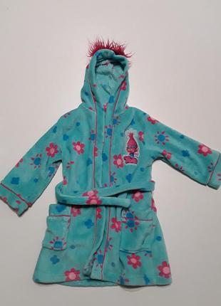 Банный халат 3-4 года