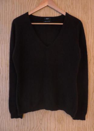 Джемпер свитер 100% кашемир кашемировый коричневый шерсть шерстяной длинным рукавом зимний