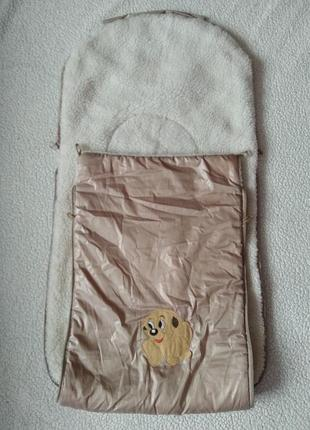 Зимний мешок конверт в коляску/люльку/прогулку