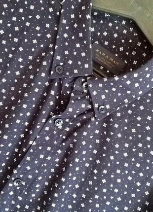 Рубашка zara slim fit
