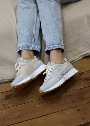 New balance 327 blue cream 🆕шикарные кроссовки 🆕купить наложенный платёж