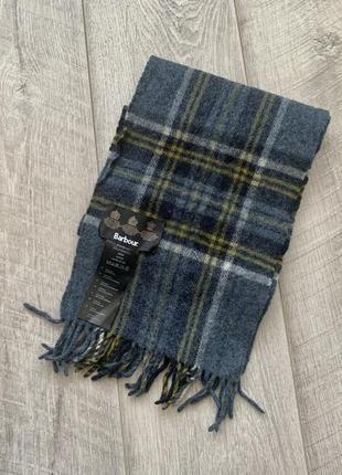 Barbour шарф 100% шерсть оригинал
