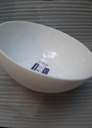 Салатник luminarc,белый салатник