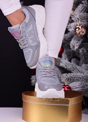 Шикарные женские спортивные кроссовки серые ❗последние размера ❗ ( демисезон ) 36-41 р