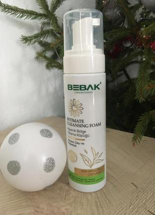 Пінка для інтимної гігієни з освіжаючим ефектом bebak, 200 мл