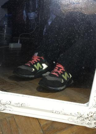 Яркие удобные кроссовки new balance розовые с неоновый зеленый и рефлективами