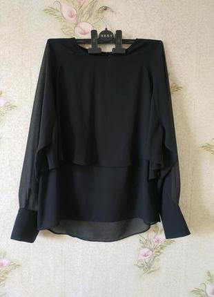 Чёрная женская блузка zara # шифоновая блузка