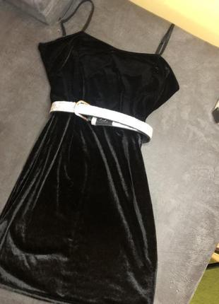 Платье велюр майка  плаття