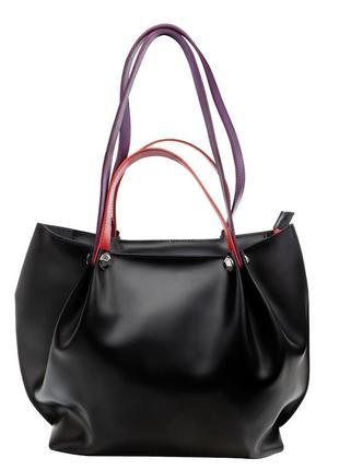 Кожаная сумка деловая сумка шопер повседневная сумка