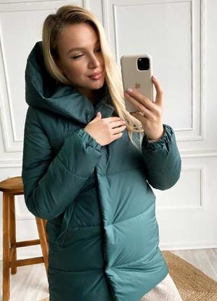 Женская зимняя куртка удлинённая
