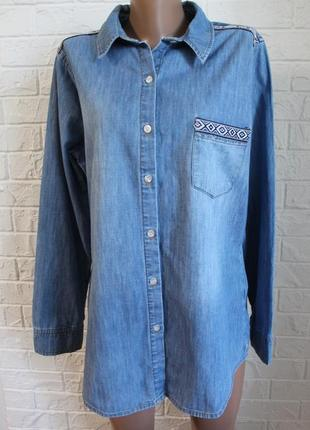Джинсовая рубашка g21 в идеальном состоянии 2xl