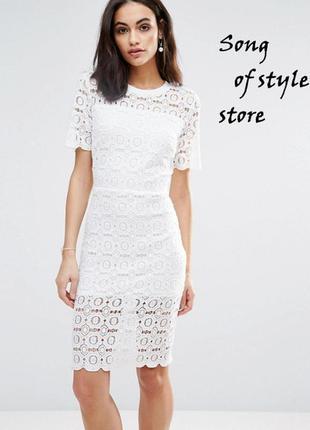 Asos  платье с цветочным кружевом
