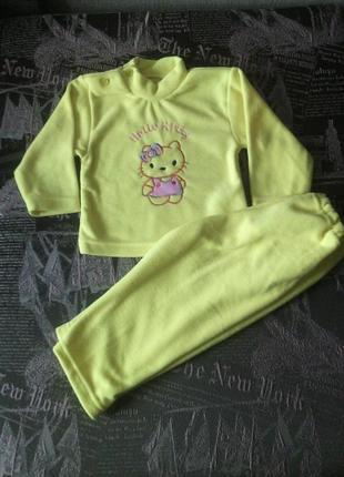 Комплект для малышки китти (флис)