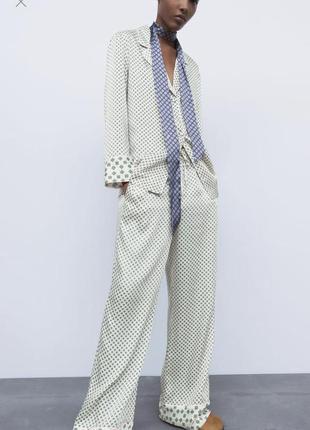 Новый костюм zara ,в пижамном стиле