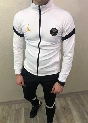 Мужской спортивный трикотажный костюм олимпийка и штаны nike air jordan