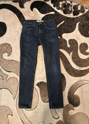 Сині штани стрейчеві джинси lacoste