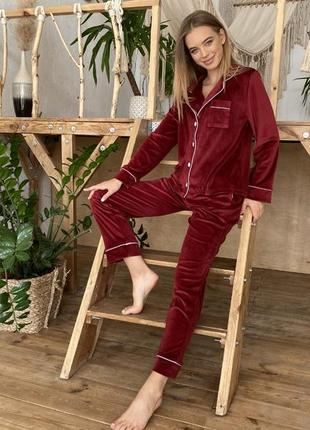 Піжама велюрова піжамка пижама домашній костюмчик