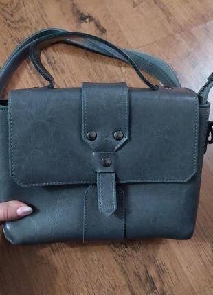 Шкіряна (кожаная) стильная сумка