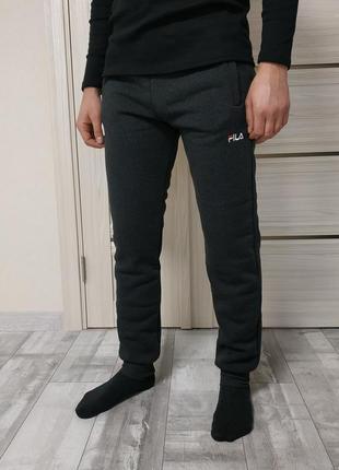 Мужские теплые спортивные штаны на плотном флисе, зимние!