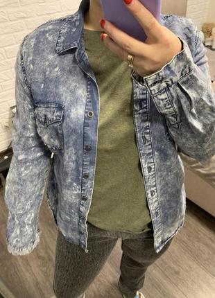 Рубашка джинсовая стильная джинсовка new look