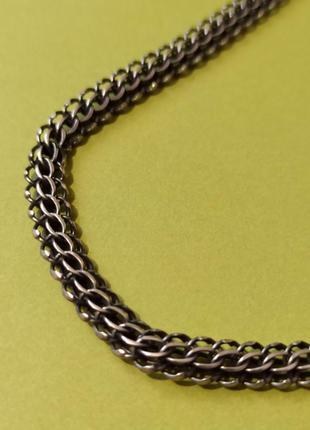 Серебряная цепочка крупной вязки