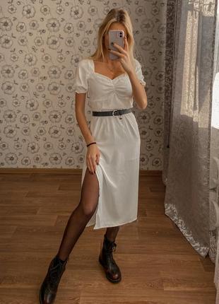 Шикарное легкое платье миди
